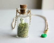 Le Aus Glasflaschen - kodama tree spirit terrarium necklace mini glass bottle