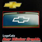 Big Chevy Bowtie Vinyl Decal Emblem Graphic Sticker For
