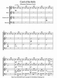 carol of the bells sheet music for wind quartet 8notes com