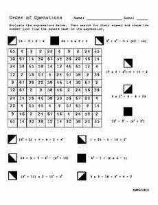 search and shade math worksheets order of operations search and shade by bree deweerdt tpt