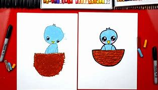 Image result for how to draw a baby bird with shapes