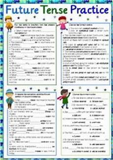 english worksheets future tense practice part 2