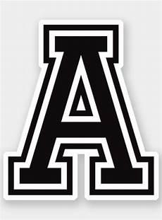 letter a sporty college font alphabet sticker zazzle