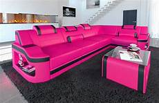 sofa mit led sofa leder design couch ecksofa padua l mit led rgb