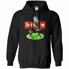 supreme hoodies rick and morty supreme shirt hoodie tank allbluetees