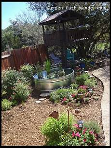 garden path wanderings stock tank water garden is in