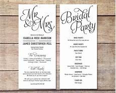 Simple Wedding Program Ideas simple wedding program customizable by paperroutecollective