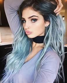 Pastel Blue Hair Tips