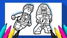 ms marvel and captain marvel coloring page lego