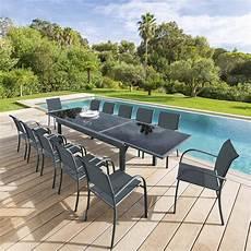 Table De Jardin Extensible Piazza Anthracite Graphite
