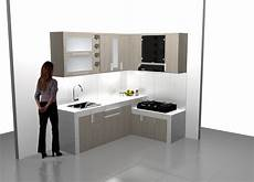 Jual L Shape Kitchen Set Almari Dapur Interior Ruang