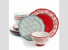 The Pioneer Woman Betsy Mix and Match 12 Piece Dinnerware