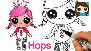 How To Draw A LOL Surprise Doll  Hops YouTube