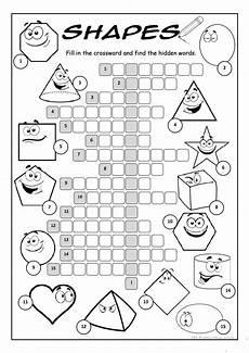 shapes crossword puzzle worksheet free esl printable worksheets made by teachers
