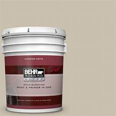 behr premium plus ultra 5 gal ul170 8 washed khaki matte interior paint and primer in one