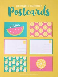 colorful name card template printable summer postcards printables printable