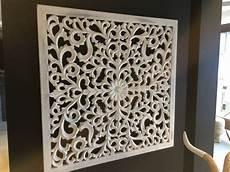 wanddeko ornament bild wanddeko holz wei 223 e