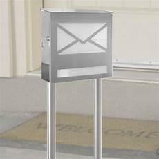 standbriefkasten mit zeitungsfach heibi letter standbriefkasten edelstahl mit zeitungsfach