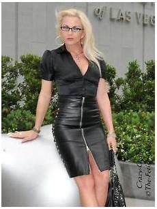 leather skirt leather skirt black knee length faux studded
