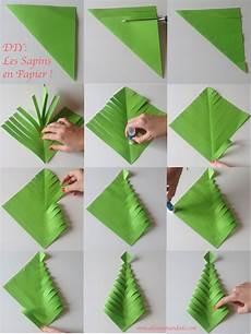 sapin en papier plié fabrique des sapins en papier diy facile et rapide