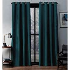 Teal Drapes Curtains by Eglinton Teal Woven Blackout Grommet Top Window Curtain