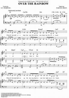over the rainbow by judy garland scored for piano vocal chords