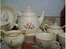 Sears vintage 1940 cattail complete dish set plus extra dishes