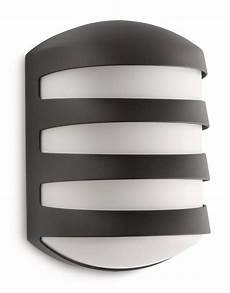 philips ecomoods foliage outdoor wall light anthracite