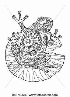 frosch ausmalbilder vektor abbildung clipart