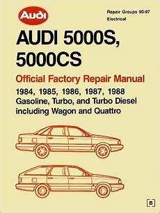 manual repair free 1988 audi 5000cs security system 1984 1988 audi 5000s 5000cs factory repair manual bentley