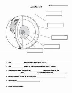 layers of the earth worksheets 14425 layers of the earth middle school science worksheet science worksheets earth science lessons