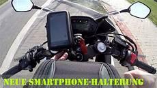 neue smartphone halterung am motorrad ausprobiert