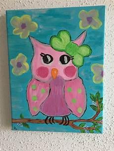 tableau pour enfant cuisine tableau pour enfant peinture acrylique hibou