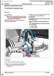 Buy Ford Kuga 2011 Workshop Manual Repair