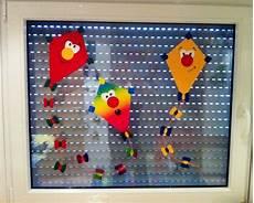 Herbst Fensterbild Winddrachen Kinderzimmer Selfmadeart