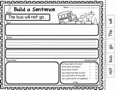 sentence building worksheets cut and paste 21045 build a sentence cut and paste sentence building for kindergarten
