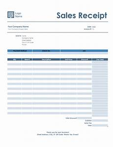 sales receipt simple blue design