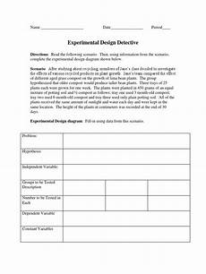 experimental design detective and variables practice worksheets experiment design of experiments