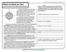 where earth are you reading comprehension worksheets reading comprehension sixth grade