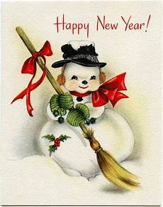 vintage snowman new year greeting card old design shop blog