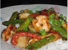 cl sichuan shrimp stir fry with broccoli or asparagus_image