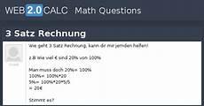view question 3 satz rechnung