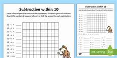 subtraction worksheets from 10 10083 subtraction within 10 worksheet worksheet ni ks1 numeracy subtraction