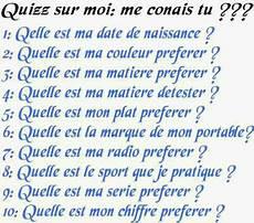 Quizz Sur Moi Me Conais Tu Didine59