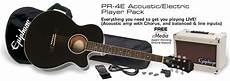 epiphone pr 4e acoustic electric guitar pr 4e acoustic electric player pack