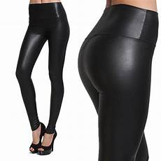 High Waist Faux Leather 2019 womens faux leather look pvc high waist
