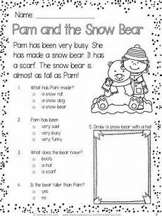 winter reading worksheets 20078 winter free ideas for the classroom reading comprehension passages kindergarten reading