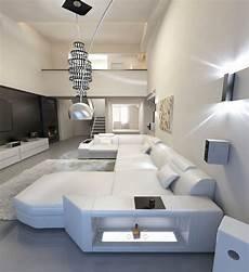 sofa led designer sofa presto u shaped with led lights leathersofa