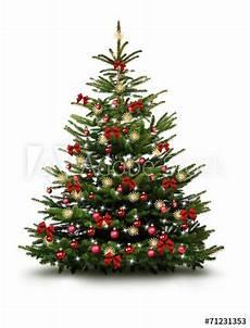 Weihnachtsbaum Rot Weiß Geschmückt - christbaum mit roten kugeln schleifen und strohsternen