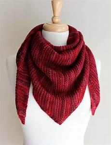 Strickmuster Schal Lochmuster - free knitting patterns truly triangular scarf knitting